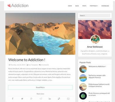 addiction free blogspot template