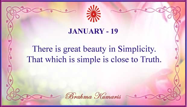 Thought For The Day January 19
