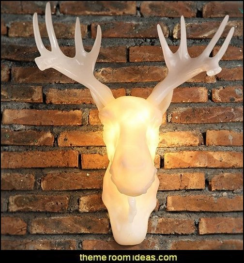 Antler Decorative Wall Light  log cabin - rustic style decorating - Cabin decor - bear decor - camping in the northwoods style  - Antler decor - log cabin boys theme bedroom - Cabin Bedding - Rustic Bedding - rustic furniture - cedar beds - log beds - LOG CABIN DECORATING IDEAS - Swiss chalet ski lodge murals - camping room decor - hunting and fishing theme decorating - winter cabin decorating