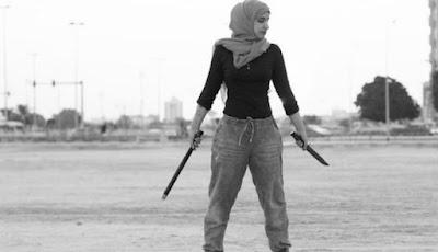 Tubuh langsing Reem al-Ouda saat berlatih