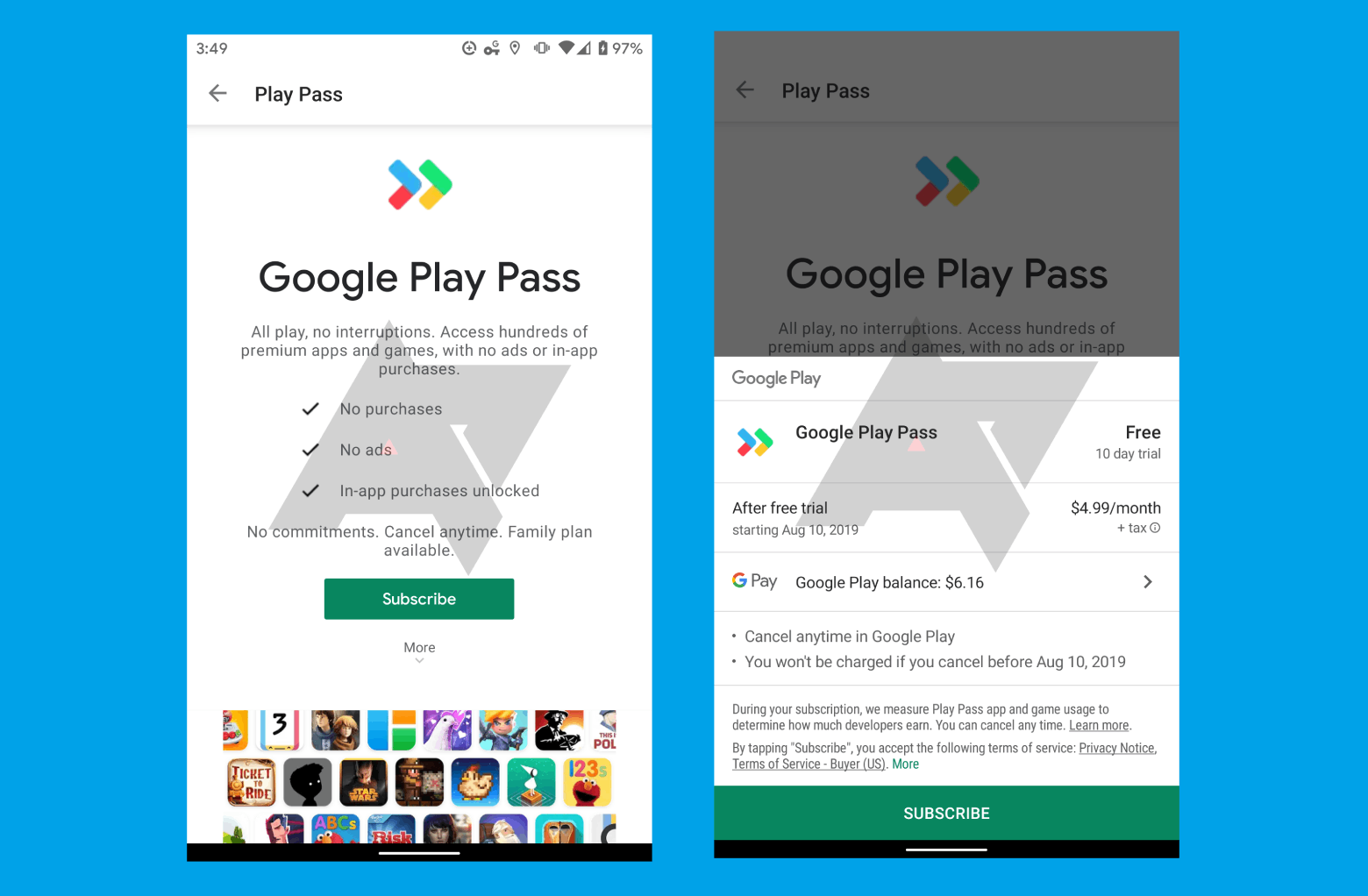Google Play Store is working on Its Subscription Service