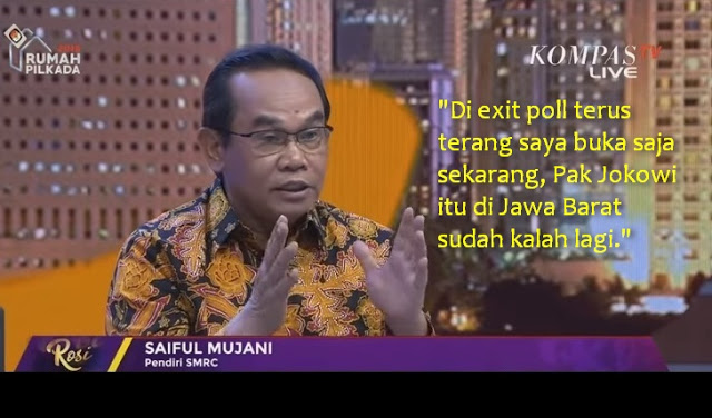 Tak Banyak Terungkap, Exit Poll SMRC: Jokowi Kalah Lagi di Jawa Barat