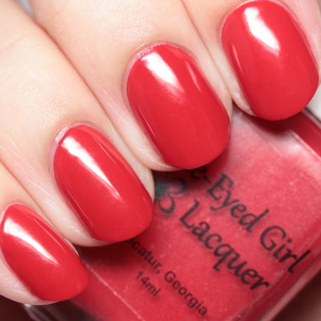 Blue-Eyed Girl Lacquer Set Me on Fire in the Evening