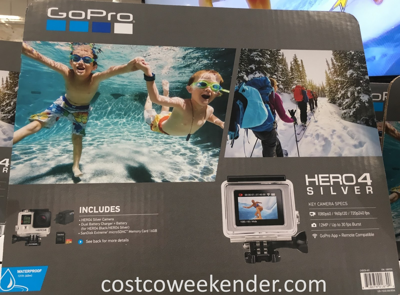 Capture awesome action shots with the GoPro Hero4 Silver Camera
