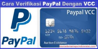 paypal vcc mgxpa Cara mudah Verifikasi akun Paypal dengan VCC tanpa Kartu Kredit