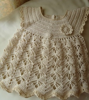 Crochet Patterns For Lacy Crochet Baby Dress Pattern 19