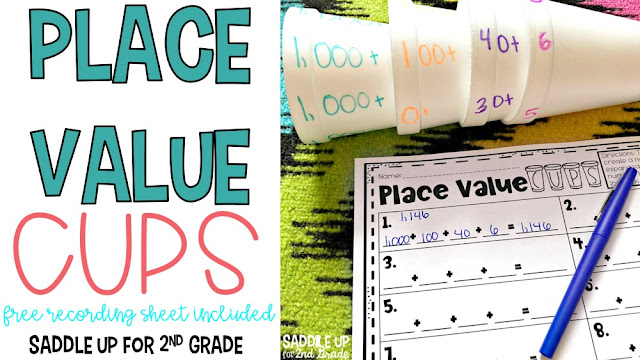 Place Value Cups is a hands on way to teach and reinforce expanded form in your classroom. This blog post will teach you how to make this game and you can grab a FREE recording sheet too!