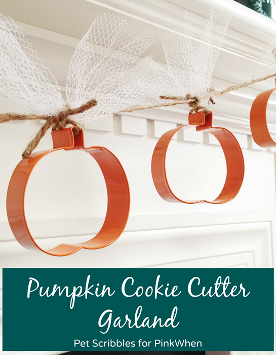 Pumpkin Cookie Cutter Garland by Pet Scribbles for PinkWhen