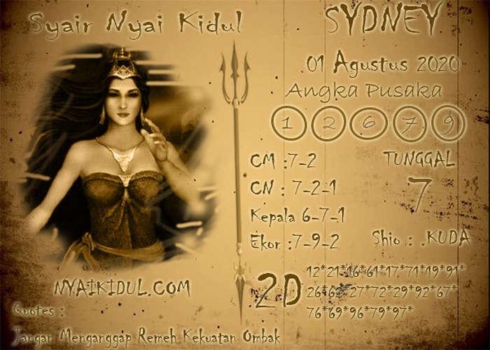 Kode syair Sydney Sabtu 1 Agustus 2020 113