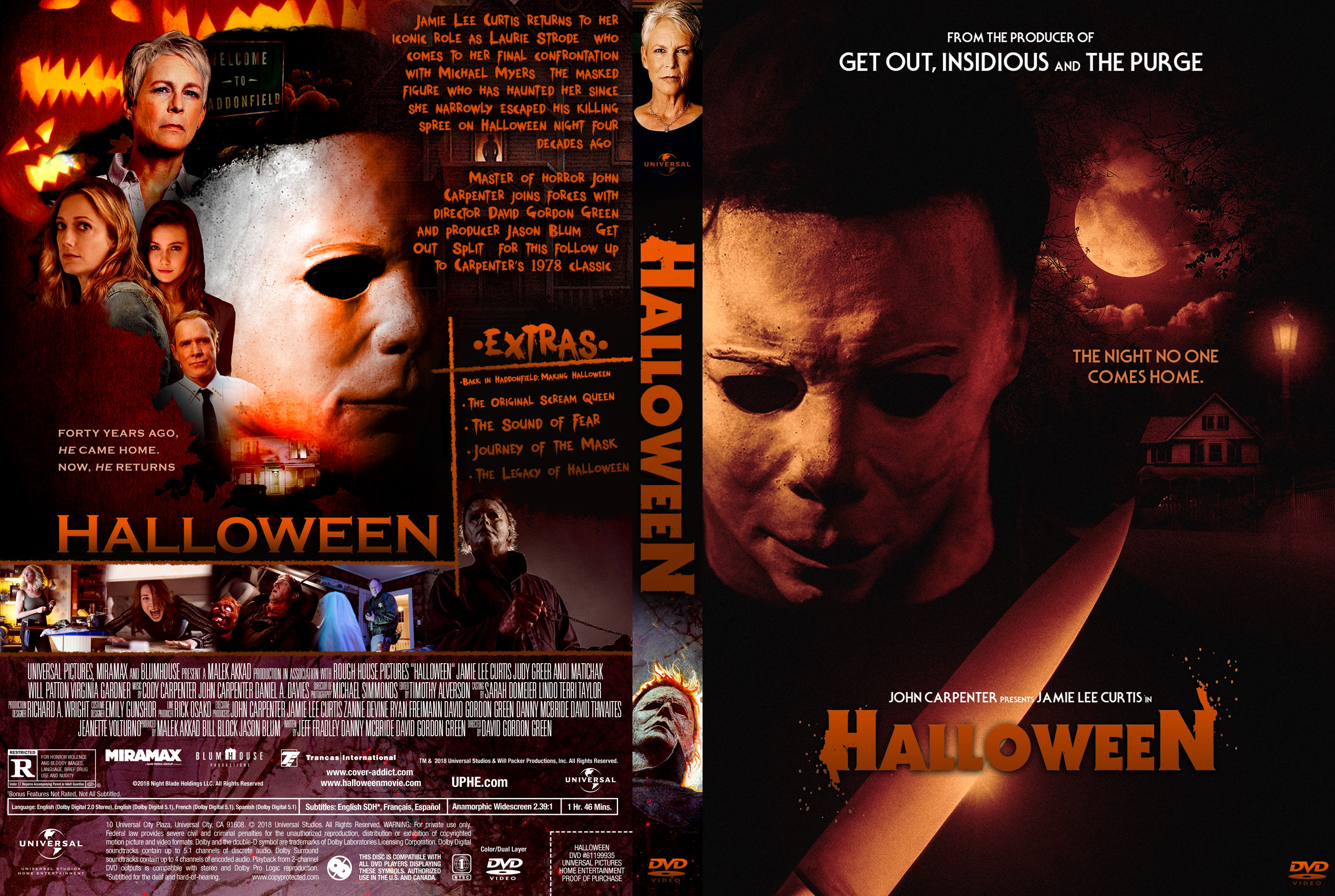 Halloween 2018 Movie Poster: Halloween DVD Cover