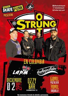 Concierto de STRUNG OUT en Bogotá en OZZY BAR