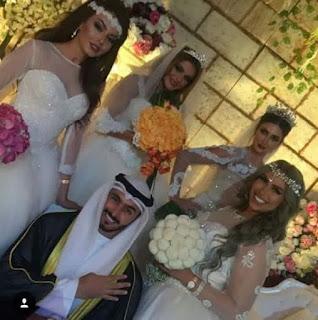 شاب كويتي يتزوج اربعه نساء في ليلة واحده ويثير مواقع التواصل الاجتماعي