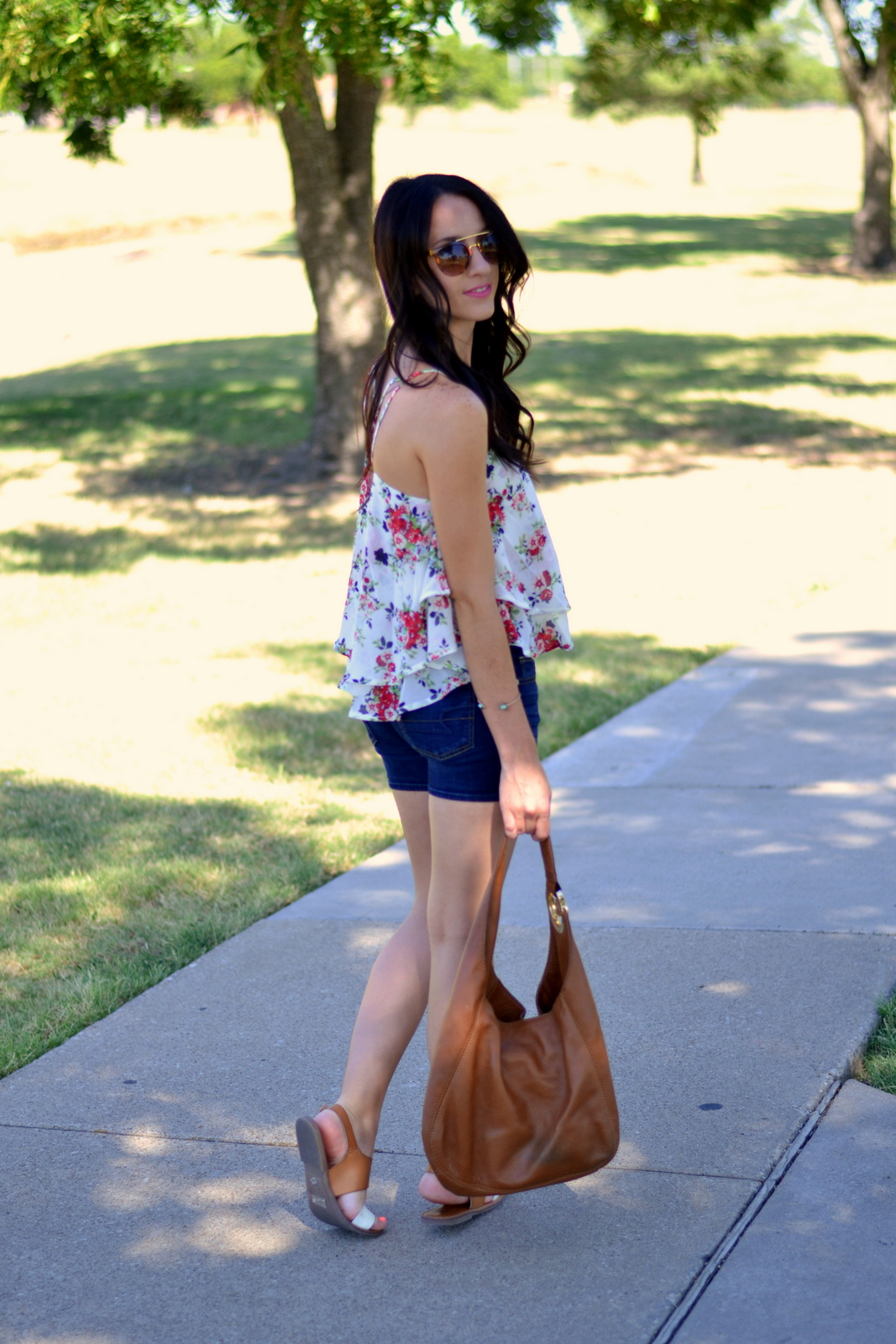 Summer Floral Cami with Ruffles