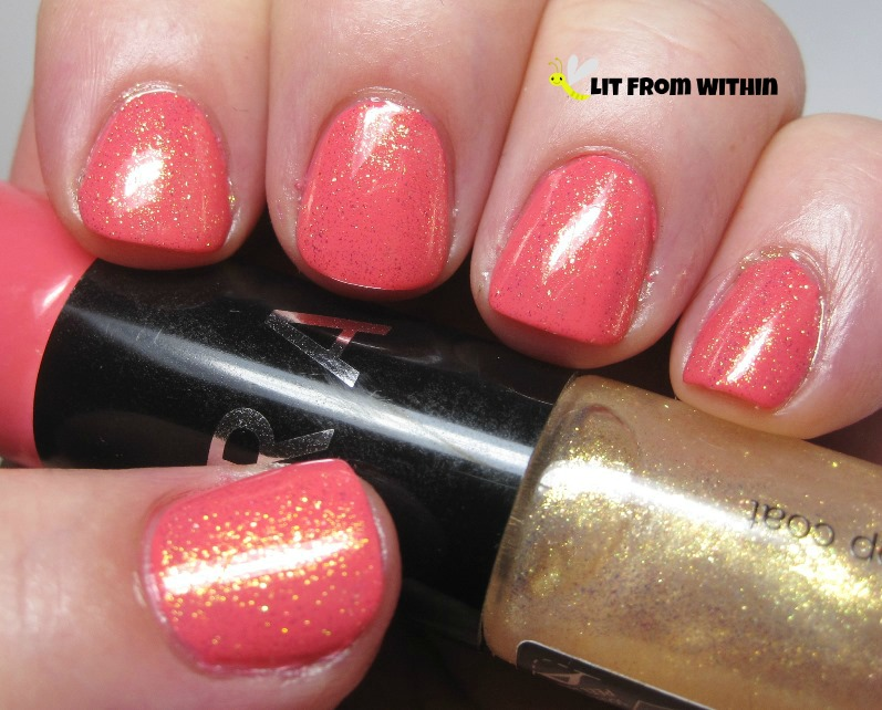 I loved the coral, and I loved the gold shimmer, too!