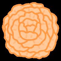 お花紙のイラスト(オレンジ)