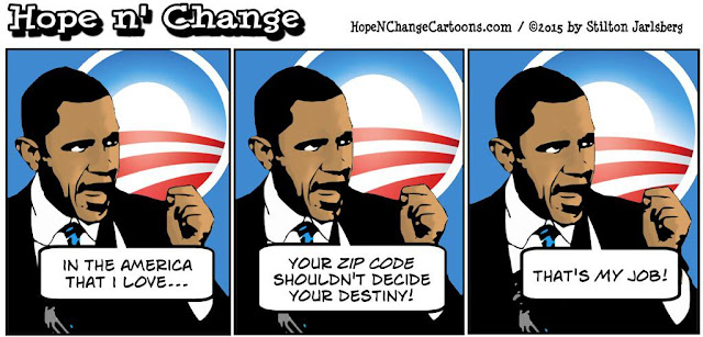 obama, obama jokes, political, humor, cartoon, conservative, hope n' change, hope and change, stilton jarlsberg, zip code, housing, fair housing, hud