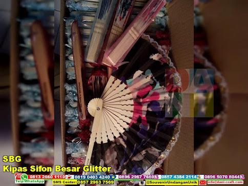 jual Kipas Sifon Besar Glitter