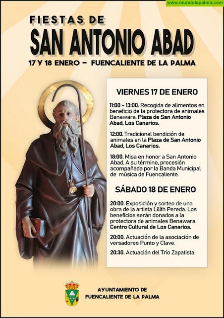 Fuencaliente celebra la festividad de San Antonio Abad contribuyendo con las acciones de la protectora Benawara