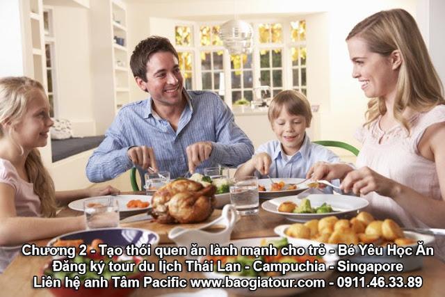 Chương 2 - Tạo thói quen ăn lành mạnh cho trẻ - Bé Yêu Học Ăn
