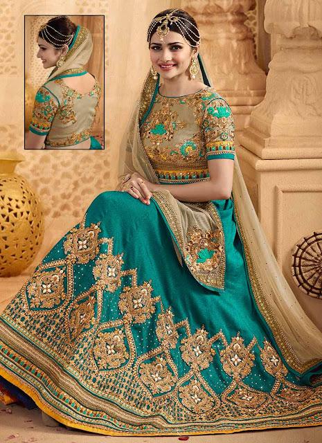 Prachi Desai , Prachi Desai Lehenga Choli, Prachi Desai as Bride, Prachi Desai Bridal Wear, Prachi Desai Sky Blue Bridal Wear