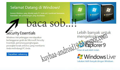 CARA CEK KE ASLIAN WINDOWS 7 XP & VISTA