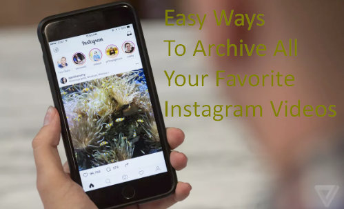 Easy Ways To Archive All Your Favorite Instagram Videos