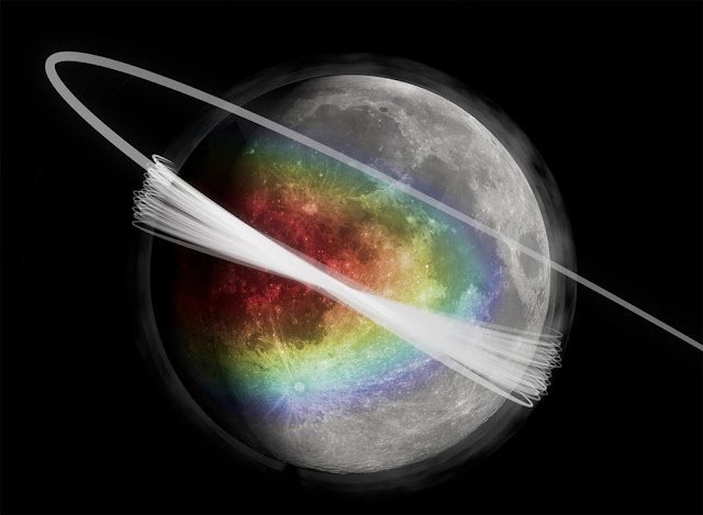 Lua cercada por poeira cósmica