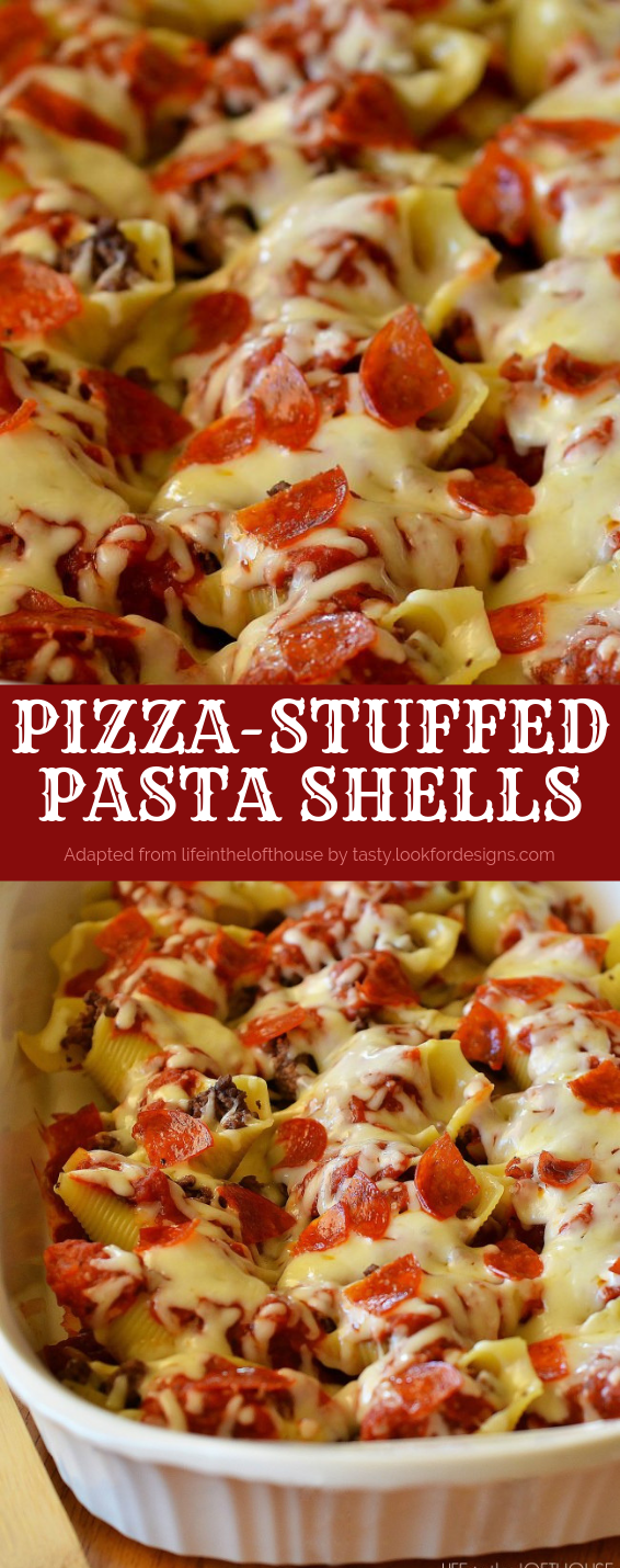 Pizza-Stuffed Pasta Shells Recipe
