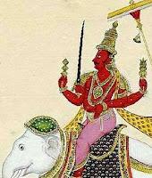 Indra auf seinem Elefanten Airavata