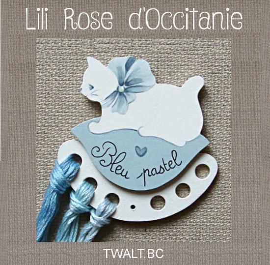 """Tri-fils bois peint """" chat blanc et coussin bleu"""" avec texte au choix. Broderie et point de croix"""