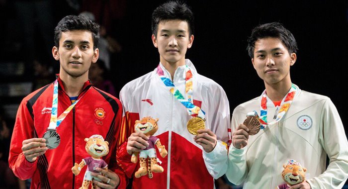 gold Badminton Youth Olympics 2018