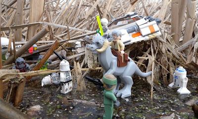 Lego Star Wars in the Marsh