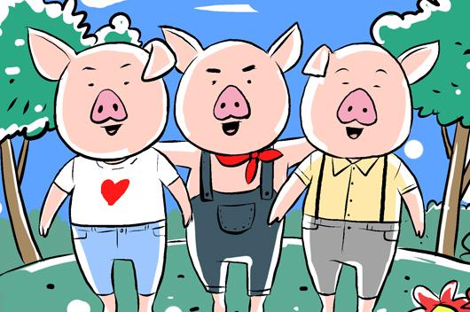 Ba cha con (bộ mới) phần 61: Ba chú lợn con