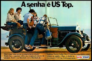 propaganda jeans US Top - 1978; moda anos 70; propaganda anos 70; história da década de 70; reclames anos 70; brazil in the 70s; Oswaldo Hernandez