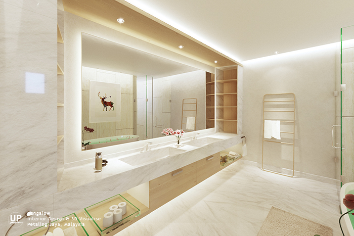 ID for SS1 Bungalow Master Bathroom | Malaysia