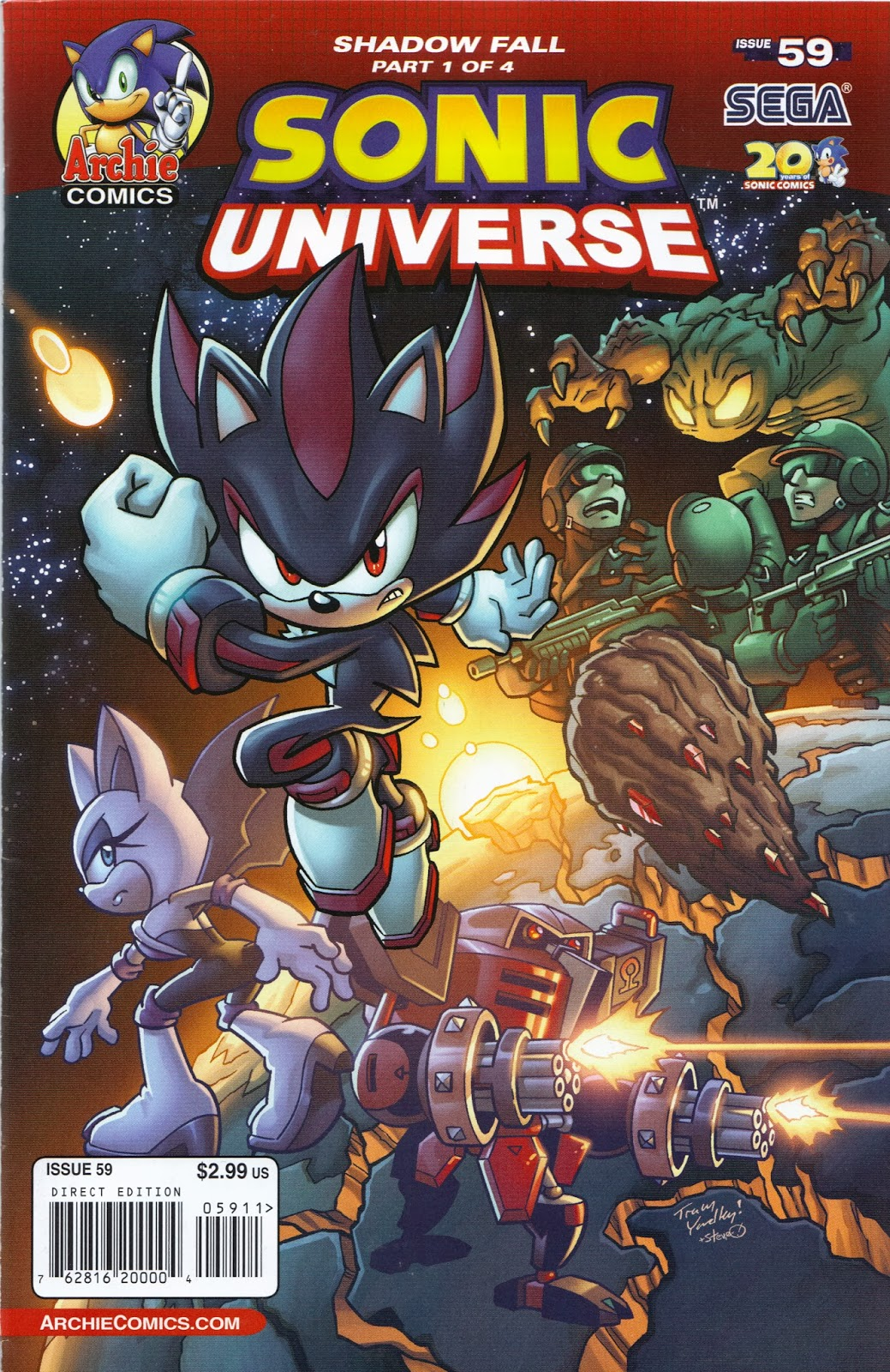 Recorded Land Shark Attacks: Review of the Week: Sonic Universe #59