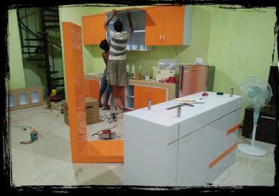 harga kitchen set minimalis, kitchen set murah, desain kitchen set area kediri