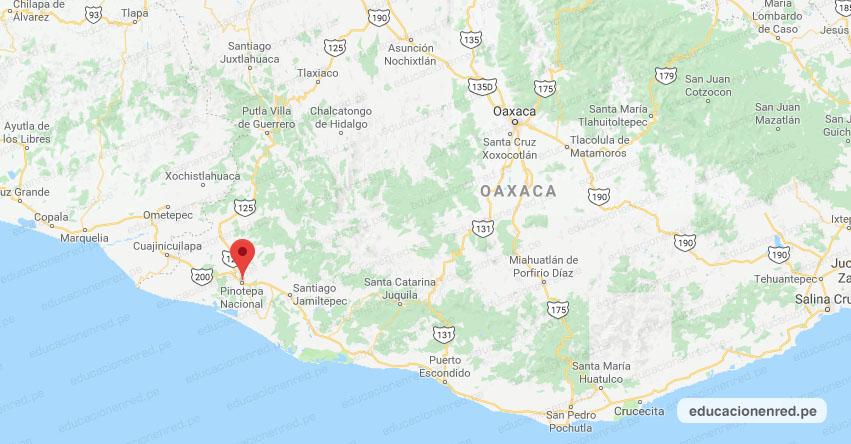 Temblor en México de Magnitud 3.3 (Hoy Lunes 27 Abril 2020) Sismo - Epicentro - Pinotepa Nacional - Oaxaca - OAX. - SSN - www.ssn.unam.mx