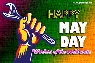 happy may day workers of world unite. May Day wishes image