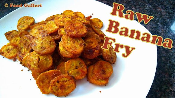 Raw Banana Fry, Aratikaya Vepudu
