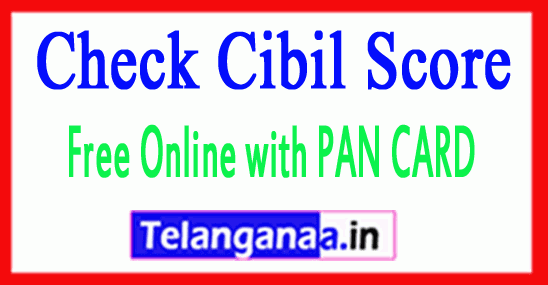 Cibil Score Free Online with PAN CARD