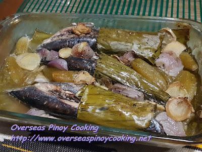 Baked Tulingan, Sinaing na Tulingan Style Dish