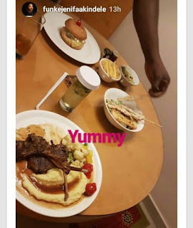 Heavy Pregnant Funke Akindele Worries About Her Excess Eating These Days (Pics)