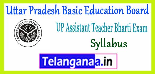 UP Assistant Uttar Pradesh Basic Education Board Teacher Syllabus 2017-18