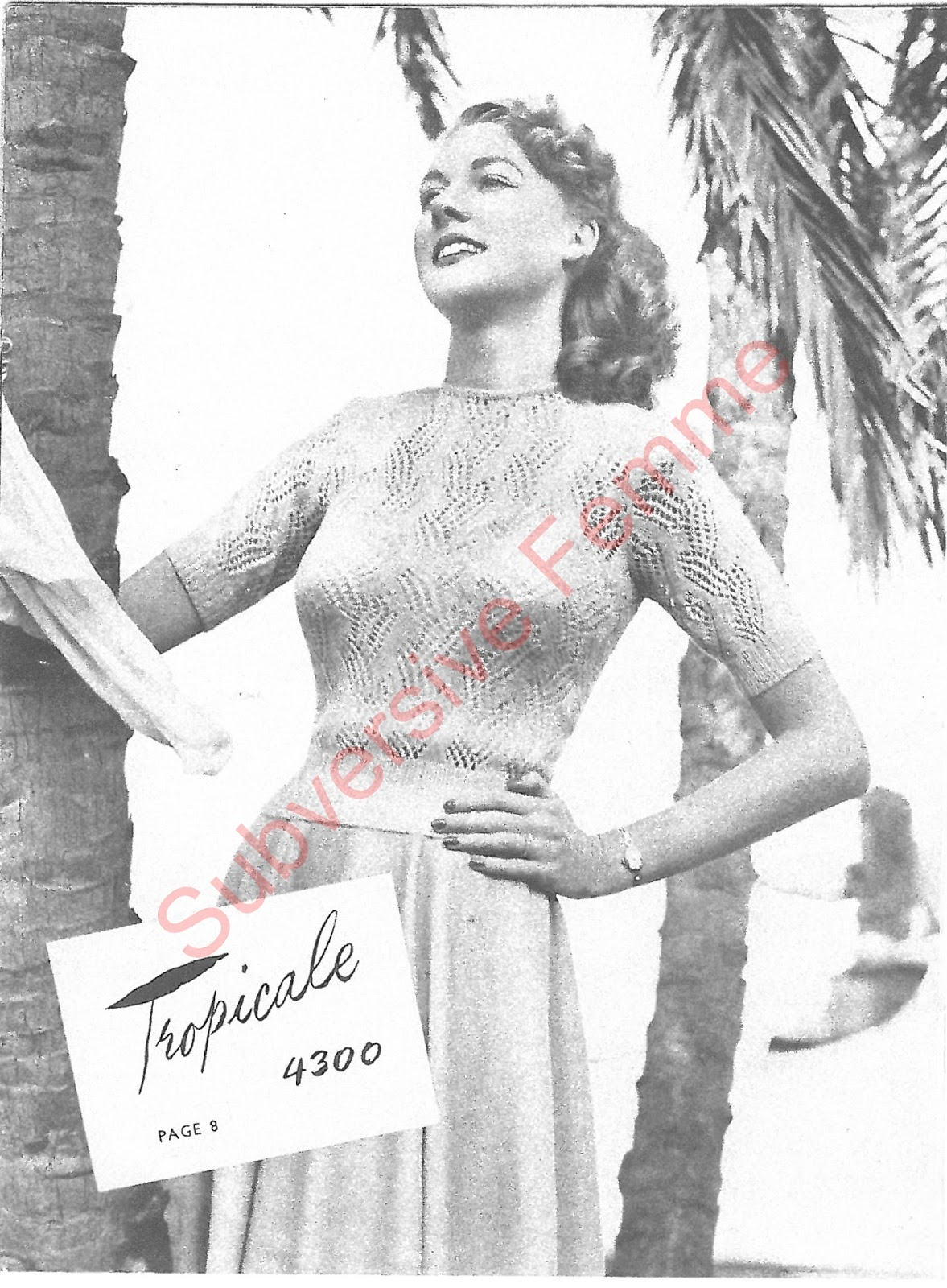Free Vintage Knitting Patterns 1950s : The Vintage Pattern Files: 1950s Knitting - Twin-Prufe Series No.144
