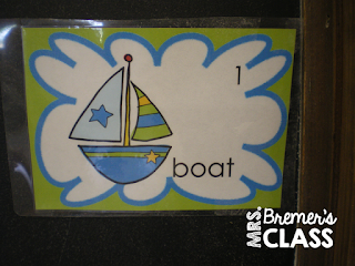Write the Room literacy center activity with a summer theme