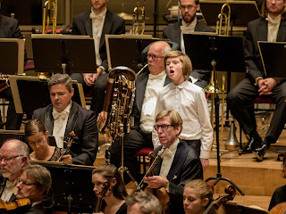 Treble soloist David Weissglas and the Royal Stockholm Philharmonic Orchestra - photo Jan-Olave Wedin
