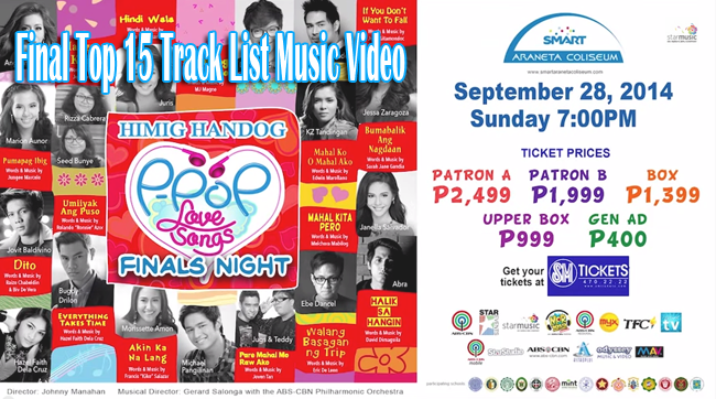 Music Video: Himig Handog P-Pop Love Songs 6th Edition Final Top 15 Track List