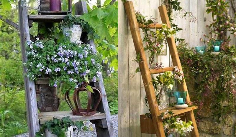Escaleras viejas para decorar ideas creativas que cambiaran el aspecto de tu casa maria victrix - Escaleras jardin ...