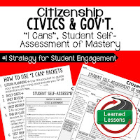 Citizenship, Civics and Government I Cans, Self-Assessment of Mastery, Student Ownership of Learning